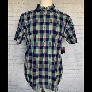 🌺Hurley Men's Bayshore Short Sleeve Plaid Shirt